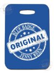PVC Luggage tag - blue jenny